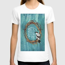 shrike with thorns T-shirt