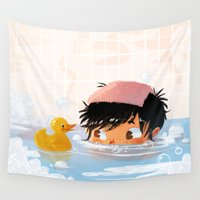 bath Wall Tapestries featuring Bath Water by Joelle Murray