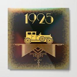 1925 Vintage Metal Print