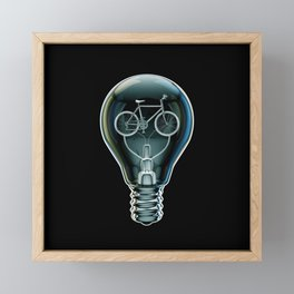 Dark Bicycle Bulb Framed Mini Art Print