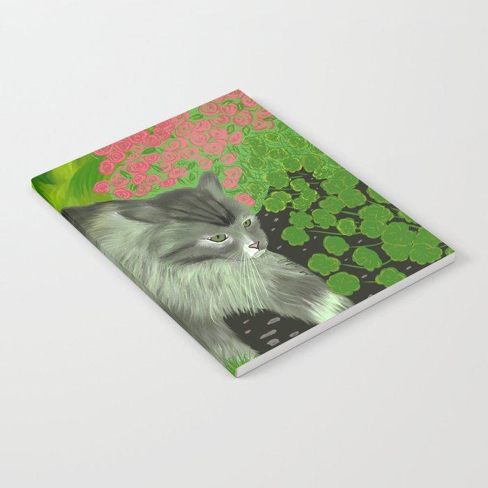 Cat In The Garden Notebook