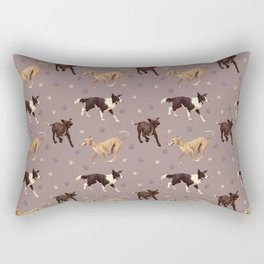 Rescue Dogs Pattern Rectangular Pillow