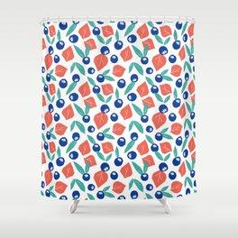 Blueberry jam Shower Curtain