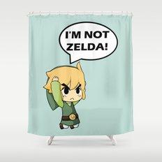 I'm not Zelda! (link from legend of zelda) Shower Curtain