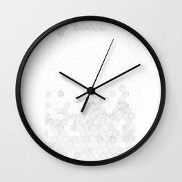 Grey Hexagons Wall Clock