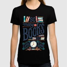 So many books so little time LARGE Womens Fitted Tee Black
