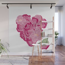 Heart of flowers Wall Mural