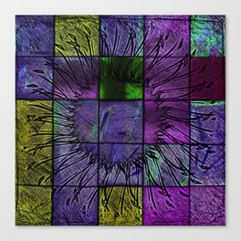 Purple stained glass Canvas Print