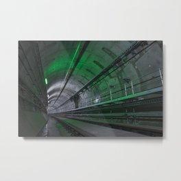 Green Tunnel Metal Print