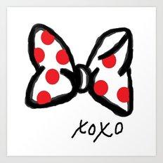 Minnie Red Polka Dot Bow Art Print