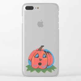 Halloween Pumpkin Clear iPhone Case