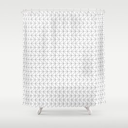 Grid Zig Zag Shower Curtain