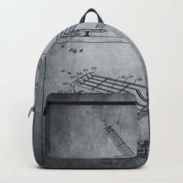 Guitar Patent - Antique gray Backpack
