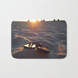 Flip Flops On The Beach Bath Mat