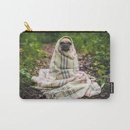 Snug pug in tartan Carry-All Pouch