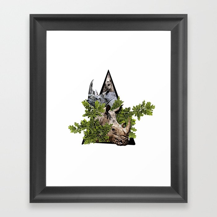 Jungle Animal Rhinocero ArtWork Framed Art Print
