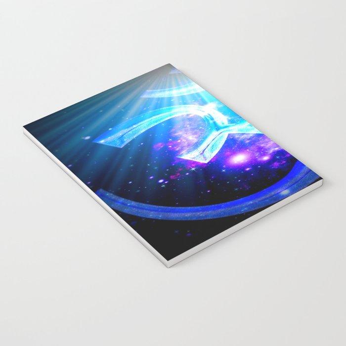 Om : Blue Purple Galaxy Notebook