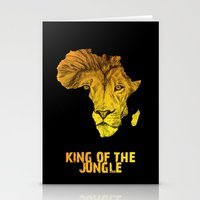 musa Stationery Cards featuring King Of The Jungle! by DeMoose_Art
