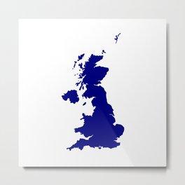U.K. and Northern Ireland Silhouette Metal Print