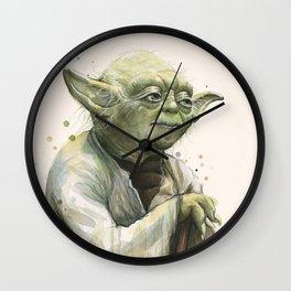 Yoda Jedi Portrait Sci-Fi Wall Clock