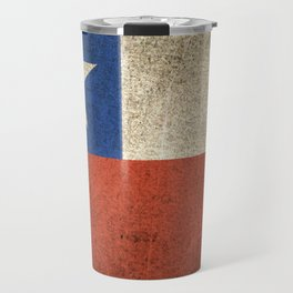 Old and Worn Distressed Vintage Flag of Chile Travel Mug