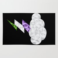 queer Area & Throw Rugs featuring Gender Queer Storm Cloud by Casira Copes