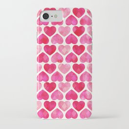 RUBY HEARTS iPhone Case