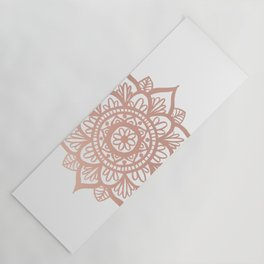 New Rose Gold Mandala Yoga Mat