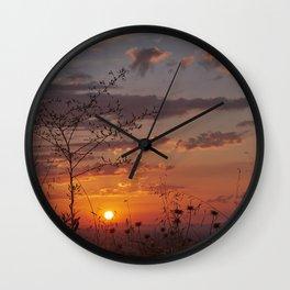 Last days of Summer. Sunset near autumn.... Wall Clock