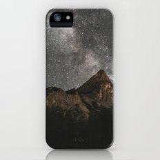 Milky Way Over Mountains - Landscape Photography iPhone SE Slim Case