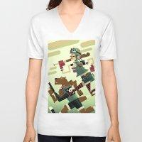 tank girl V-neck T-shirts featuring Tank Girl by Gabriela Zurda