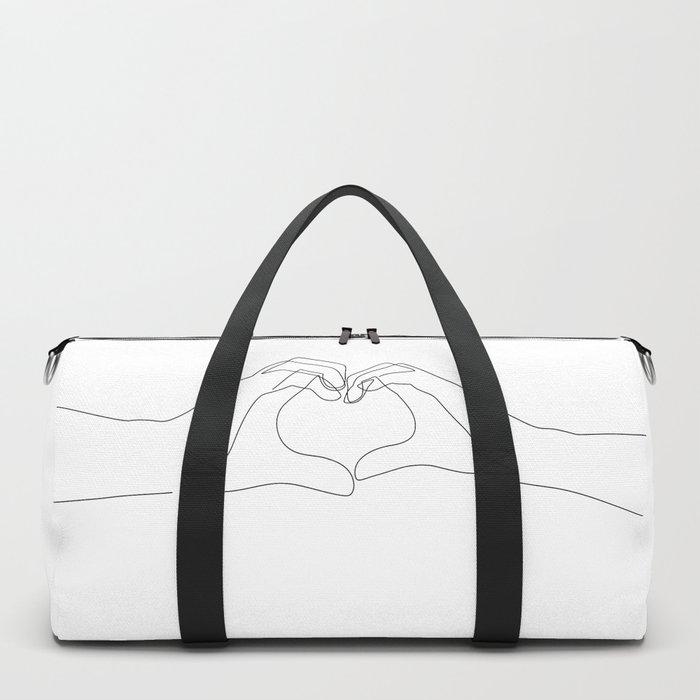 Hand Heart Duffle Bag
