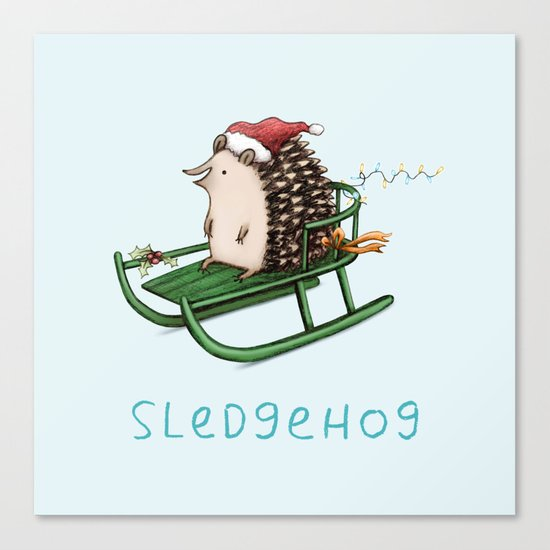 Sledgehog Canvas Print