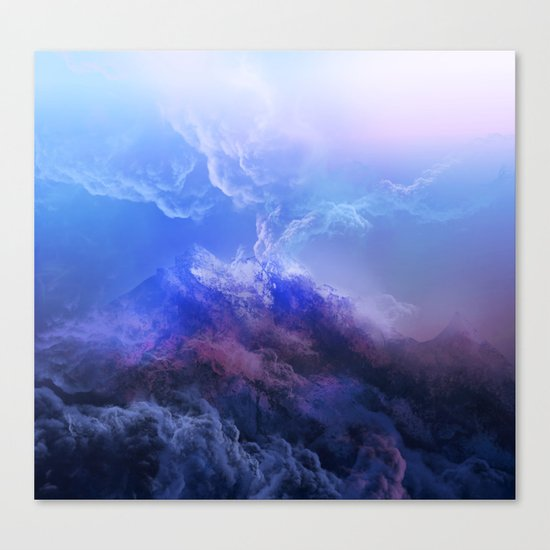 purple mountains Canvas Print
