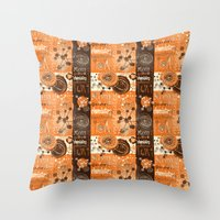 chemistry Throw Pillows featuring chemistry by kociara