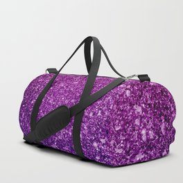 Pretty Sparkly Pink & Purple Glitter Gradient Duffle Bag