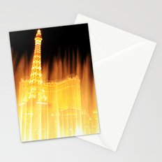 The golden fountains of Bellagio in Vegas Stationery Cards