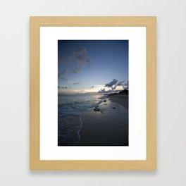Beach line Framed Art Print