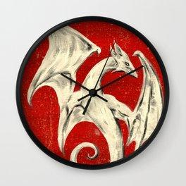 White Dragon Wall Clock