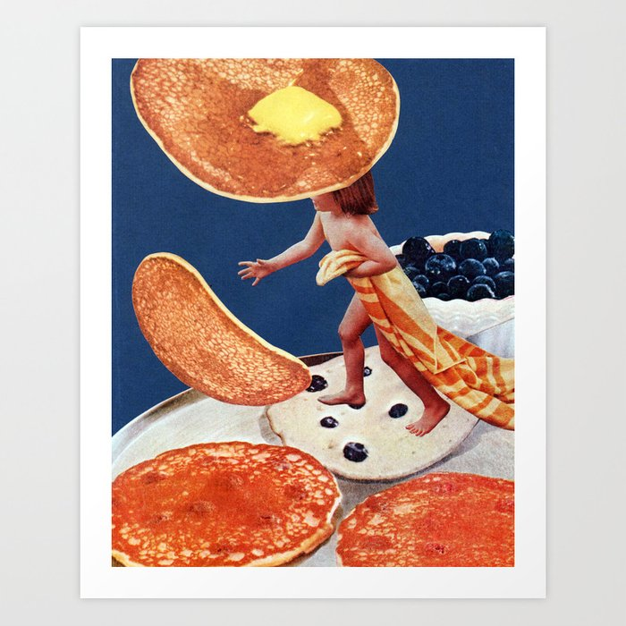 Blueberry Pancakes Art Print