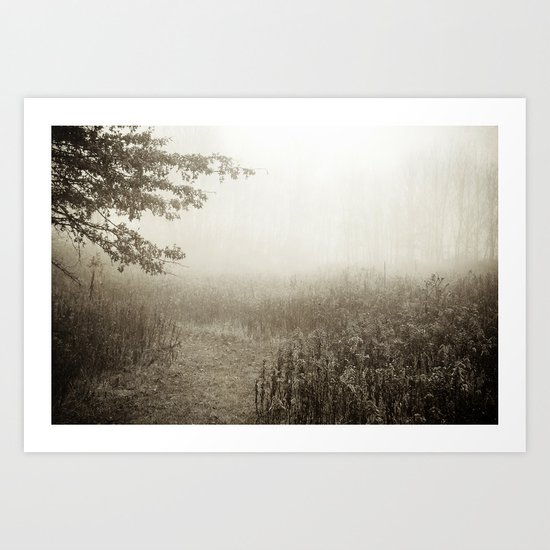 Dreaming in B&W Art Print