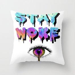Stay Woke Pastel Throw Pillow