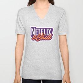 NETFLIX AND CHILL Unisex V-Neck
