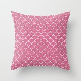 Scalops Bubblegum Throw Pillow