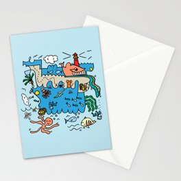 Sea Doodle World Animals Stationery Cards