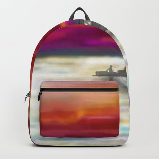 Fishing in Neon Backpack