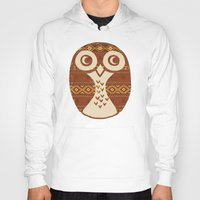 navajo Hoodies featuring Navajo Owl  by Terry Fan