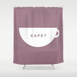 Coffee? (Filipino) Shower Curtain