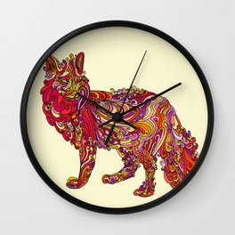 Fox by Day Wall Clock
