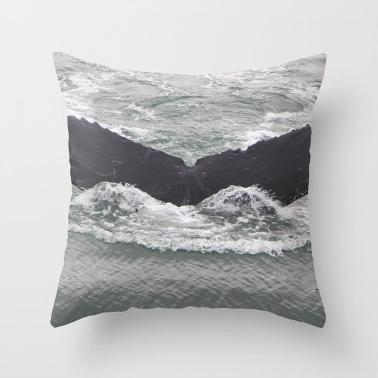 Butterfly of the Ocean Throw Pillow
